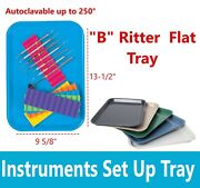 Dental Plastic Instrument Tray Size B Autoclave 13.25 X 9.75 Assorted Packs