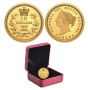 Canada - 2020 And039dominion Of Canadaand039 Proof 10 Gold Coin 1/4oz .9999 Fine 0443