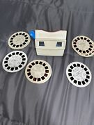 Vintage Gaf Viewmaster Viewer W/ Disney Reels Mickey Mouse Peter Pan And More