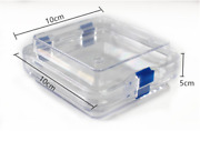 Plastic Jewelry Storage Boxes Hinged Display Box Clear Membrane Case 10105cm