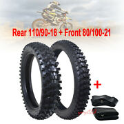 18 + 21 Off-road Tire Tube Set 110/90-18 Rear + Tyre 80/100-21 Front Dirt Bike
