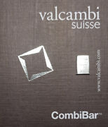 5 Grams .999 Pure Silver Valcambi Suisse Combibar Quality Minted Bullion Bar