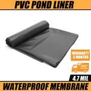 4.8 Mil Thickness Black Durable Flexible Pond Liner Rubber Hdpe Pool Landscaping