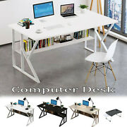 Home Office Computer Desk White Pc Laptop Table Corner Study Writing Workstation