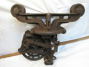 Hunt Helm Ferris Giant Bling Carriage Hay Trolley Farm Barn Architectural Iron