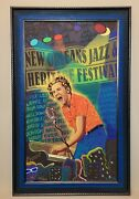 Jerry Lee Lewis 2007 New Orleans Jazz And Heritage Poster C-marque Limited 116/300