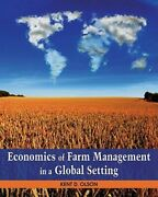 Economics Of Farm Management In A Global Setting By Kent Olson Used