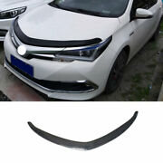 Abs Black Front Grille Grill Engine Hood Strip Fit For Toyota Corolla 2014-2018