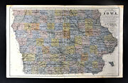 1875 Andreas Sectional Map Iowa By Ensign - Des Moines Cedar Falls Council Bluff