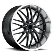 20-inch Bmw Gt1 Wheels/rims 640 650 740 Staggered Gloss Black 5x120 Lugs