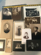 Vintage Antique Photographs Including Cabinet Photos Lot Of 17 Groups People