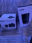 Canon Eos M50 Mirrorless With 15-45mm Stm Lens Also Canon 16-35 Wide Lens/adapte