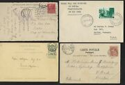 Belgium France 1900 1950 Congo Collection Of 16 Stamp History Covers And Cards See