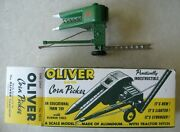 1950and039s Slik Oliver Pull Type One Row Corn Picker Toy Very Rare 1/16 Nos