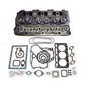New D1105 Complete Cylinder Head +full Gasket Kit For Kubota Tractor B2400 B2410