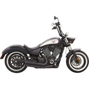 Bassani Pro Street Turn Outs Exhaust Blk 12-15 Victory Highball
