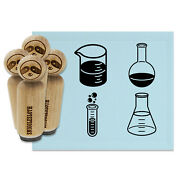 Chemistry Science Flask Test Tube Beaker Rubber Stamp Set For Stamping Planners