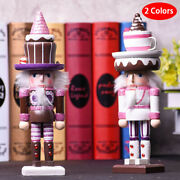 Christmas Lovely Pink Wooden Nutcracker Ornaments Home Decorations Girly Y1