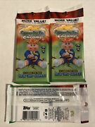 Topps Garbage Pail Kids Chrome Pack New 3rd Series - Lot Of 3 Packs Rc Unopened