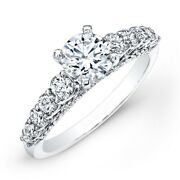 Real Diamond Round Cut 1.40 Ct Wedding Rings 18k Solid White Gold Size 4 5 6 7 8