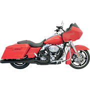 Bassani B4 2-into-1 Sys. Blk For 10-13 H-d Road Glide Cust.fltrx