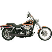 Bassani Road Rage 2-into-1 Sys. Blk For 07-09 H-d Dyna Low Rider Efi-fxdl