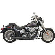Bassani Road Rage 2-1 Sys. Blk For 05-06 H-d Softail Spring. Clas.flstsc