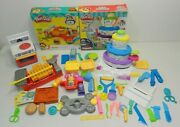 Play-doh Play Set Lot Cake Mountain Cookout Creations Kitchen Minions Extruder