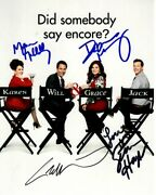 Will And Grace Signed Cast Photo Debra Messing Eric Mccormack Sean Hayes And Megan