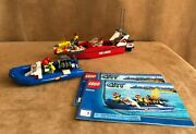60005 Lego Complete Fire Boat City Fireman Two Ship Emergency Instructions Town