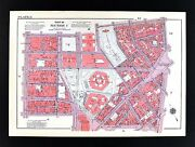 1955 Bromley New York City Map - County Court House Columbus Park Chatham Square