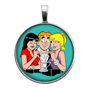 Archie Betty And Veronica Key Ring Necklace Cufflinks Tie Clip Ring Earrings
