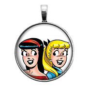 Betty And Veronica Key Ring Necklace Cufflinks Tie Clip Ring Earrings Archie