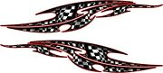 Tribal Checkered Flag Racing Car Decals Vinyl Sticker Window Laptop Graphics