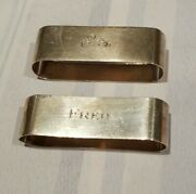 Lot Of 2 Oval Napkin Rings Gorham Sterling Silver , Free Shipping