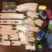 Thomas The Train Wood Track Set 52 Piece 2012 Mattel Gullane Limited And Tomy Used
