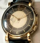 Vintage 1950and039s Jaeger Lecoultre Memovox Mechanical Alarm Watch Menand039s 32 Mm