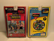 Leap Pad Start Frog Pre Math + Phonics Lot Of 2 Interactive Book And Cartridge