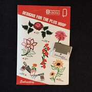 Garden Embroidery Designs Card For Husqvarna Viking Sewing Machines -plus Hoop