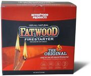 Better Wood Products Fatwood Firestarter Box 10-pounds 2 Packs