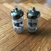 Telefunken Ecc81 / 12at7 Audio Tubes Matched Pair Made In Germany Diamond