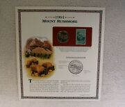 1991 S Mount Rushmore Half Dollar - Postal Commemorative Society - Coin And Stamp