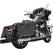 Bassani 4 Dnt Straight Can Muf. W/ Baffle 04-06 H-d Road King Cust.flhrs