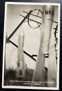 1935 Le Treport France Rocket Mail Rppc Postcard Cover Local Used Roberti Signed