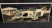 2001 Hess Truck Helicopter With Motorcycle And Cruiser. New In Box
