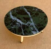 Dollhouse Doll House Coffee Table Green Marble Plastic Miniature Vintage Ideal