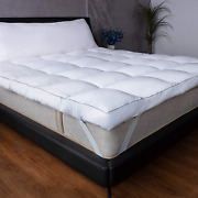 Mattress Topper Plush Pillow Top Bed Pad Soft Down Alternative 3-inch Thick New