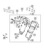 Genuine Exhaust And Catalytic Converter Manifold 68432342aa