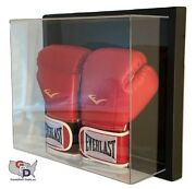 Framed Acrylic Wall Mount Double Boxing Glove Display Case Uv Protect Full Size