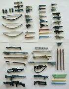 57 Vintage Star Wars Weapons Figures Lot Replacements